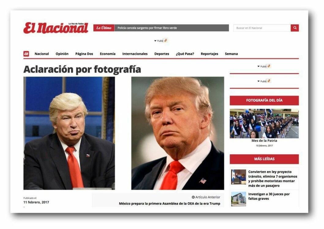 Slik beklager den dominikanske avisen feiltakelsen.