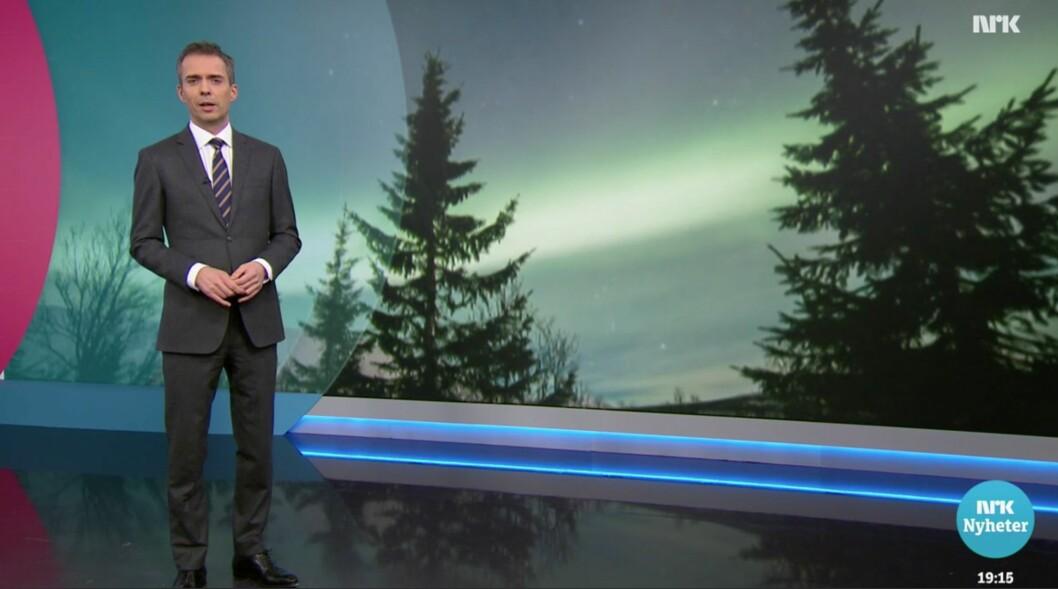 Fra introen til lørdagens Dagsrevy-reportasje om nordlys-turisme.