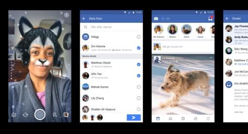 Facebook fortsetter å herme etter Snapchat: Nå får du «stories» rett i feeden, og kan «snappe» øyeblikk til utvalgte venner