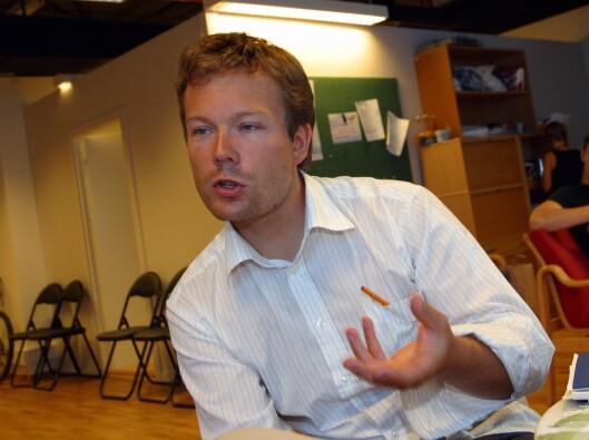 Anders Børringbo, nå nyhetsredaktør i NRK. Her et bilde fra noen år tilbake, da han var vaktsjef.