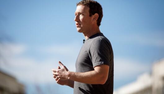 Mark Zuckerberg på et internmøte i Facebook denne uka.