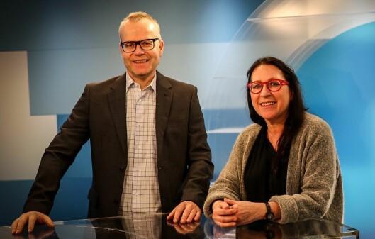 Programleder Bjarne Brandal og distriktsredaktør Tone Kunst i NRK Nordland.