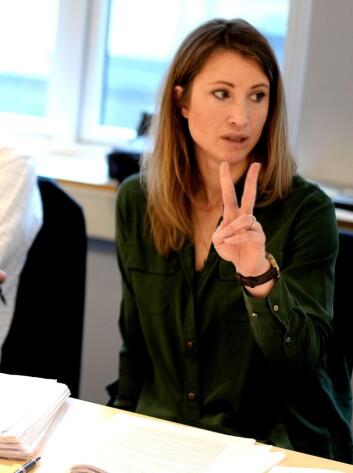 Eva Sannum, kreativ leder i Geelmuyden Kiese - og her medlem i PFU.