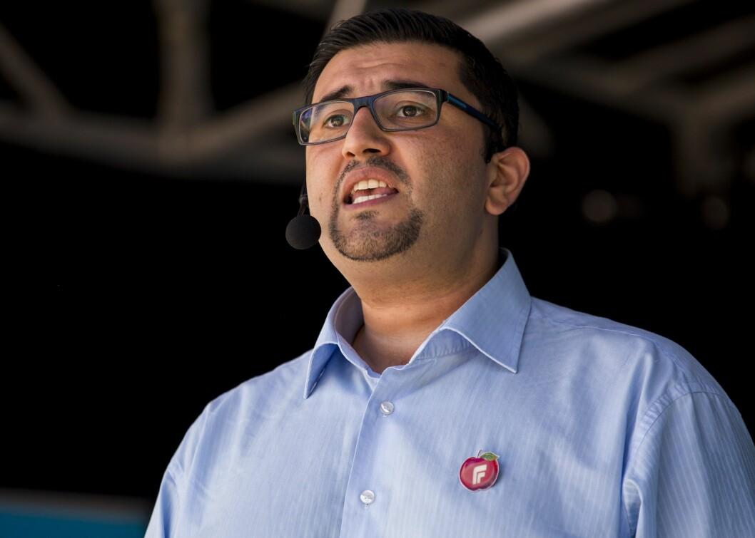 Fremskrittspartiets innvandringspolitiske talsmann Mazyar Keshvari