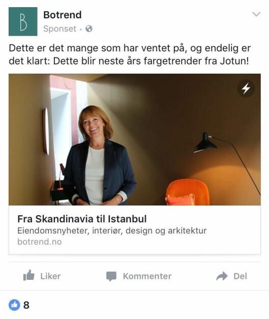 Er dette journalistikk eller reklame? Utydelig, mener Helen Frøyseth Nicholson.