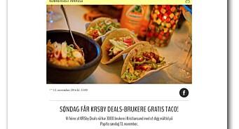 Gratis taco, men dårlig merking: Her bryter KRSby og Fædrelandsvennen god presseskikk