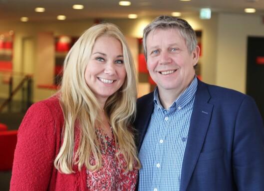 LEDERDUOEN: For snart 11 måneder siden ble toppsjef Tine Austvoll Jensen og programdirektør Eivind Landsverk ble presentert som Discoverys nye lederduo.