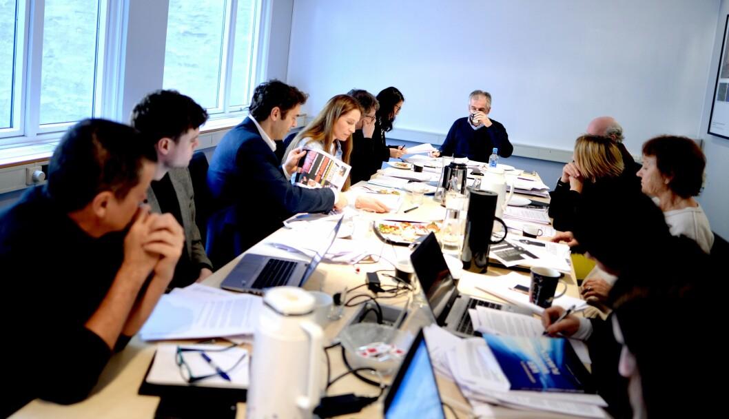 Illustrasjonsfoto fra et møte i Pressens Faglige Utvalg.