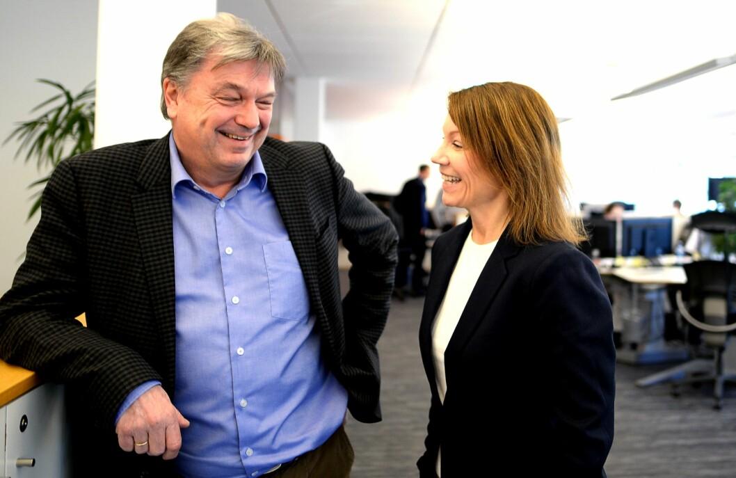 Administrerende direktør Terje Tandberg og ansvarlig redaktør Kjersti Sortland.