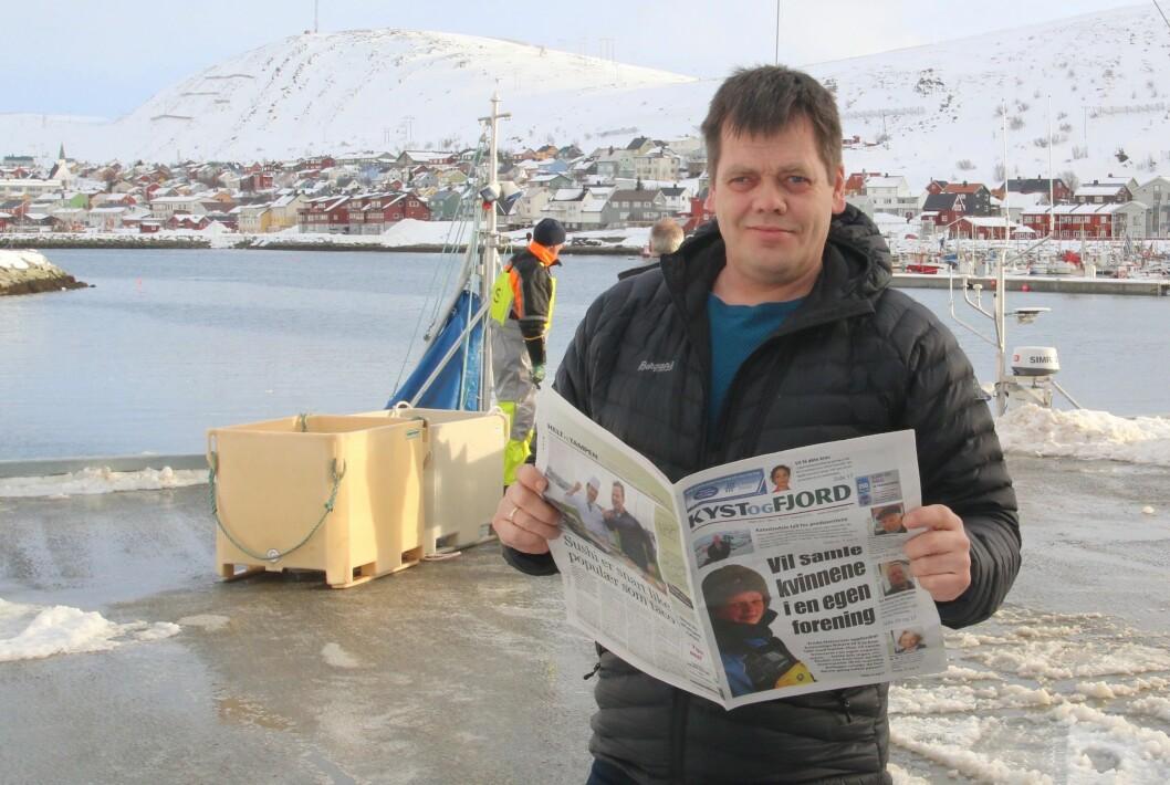 Redaktør Øystein Ingilø i Kyst og Fjord