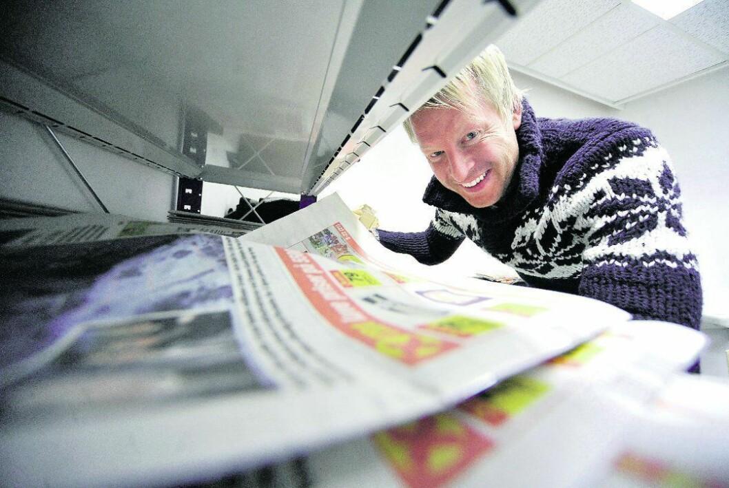Mathias Mellquist, redaktør i Vestby Avis.