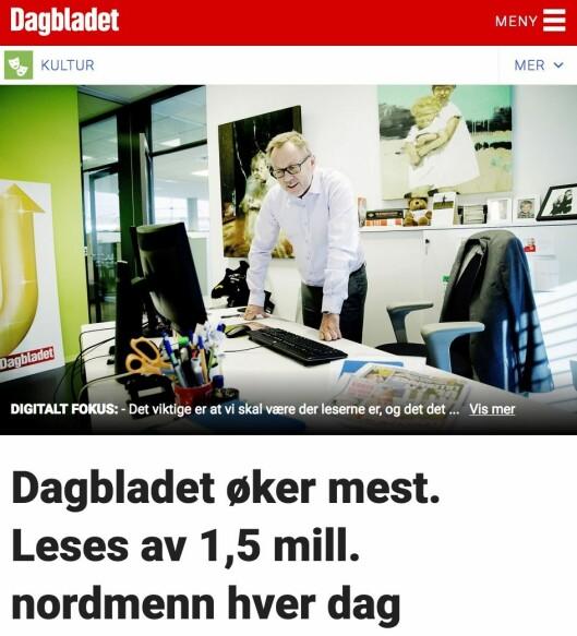 Dagbladet.no tirsdag 7. mars.