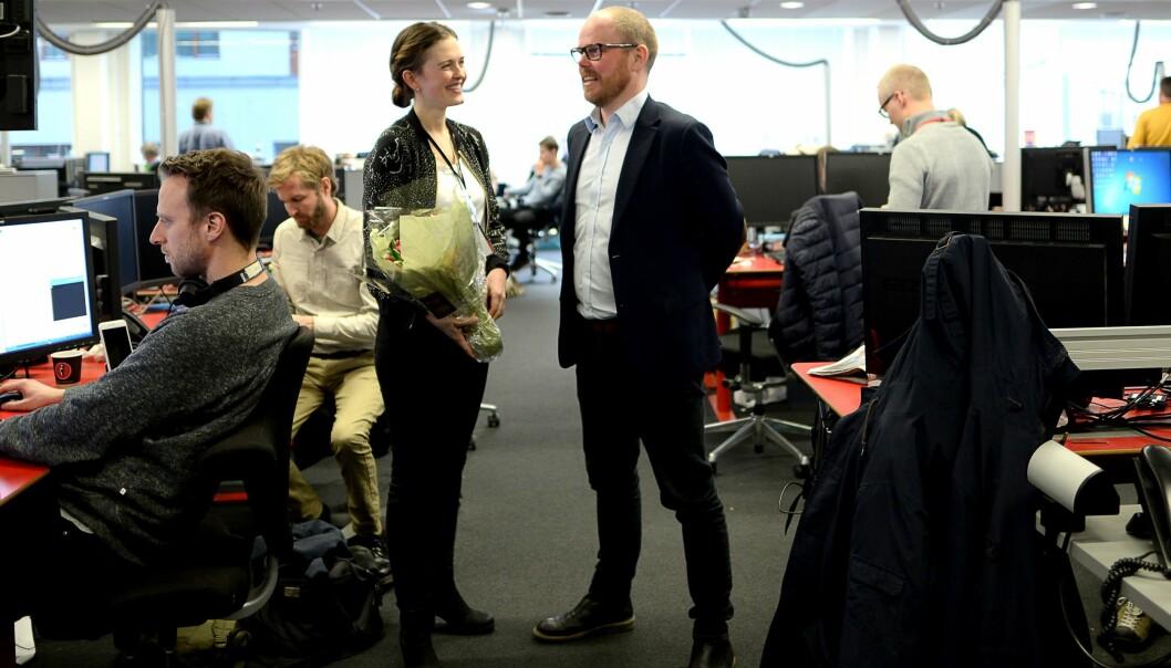 Onsdag ble Tora Bakke Håndlykken presentert som nyhetsredaktør i VG. Hun fyller dermed den ledige posten etter at Gard Steiro rykket opp til toppsjefjobben i januar.