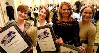 Kjersti Sortland er Årets redaktør. Hedersprisen til Ellen Arnstad. Irene Halvorsen og Veslemøy Østrem fikk også pris