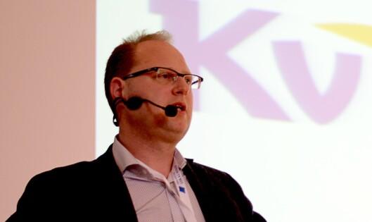 Tomas Bruvik, redaktør i Kvinnheringen. Her fra LLAs landsmøte i 2015.