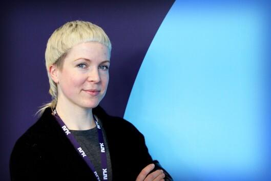 Redaksjonssjef Ingjerd Østrem Omland i NRK på Tyholt i Trondheim. Hun har ansvaret for for Her og Nå, P3nyheter og Trafikk.