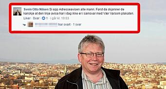 Skarp strid om kritisk journalistikk i Trondheim. Politiker og utvalgsleder oppfordrer til boikott av Adresseavisen