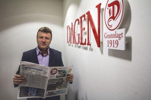 Sjefredaktør Vebjørn Selbekk i Dagen.