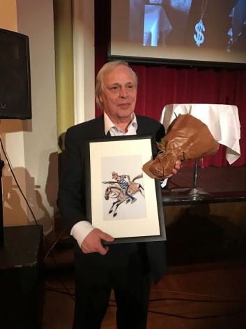 Arild Berg Karlsen fikk hedersprisen under Gullparaplyen.