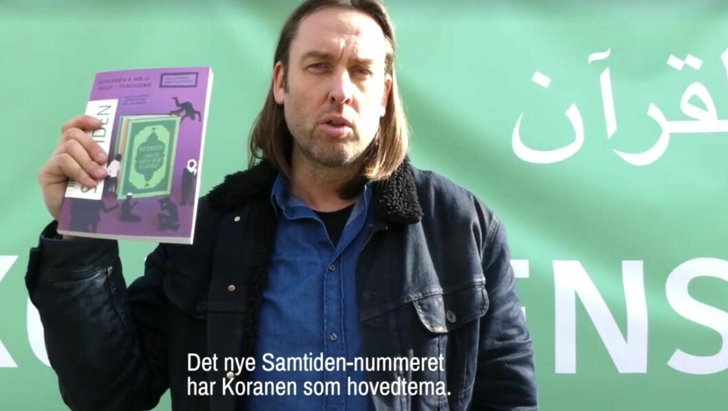 Christian Kjelstrup har den siste tiden solgt Koranen fra en popup-bokhandel i Oslo sentrum.