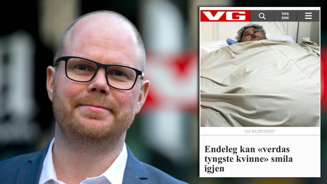 For litt sia dukka denne saka opp i VG - på nynorsk.
