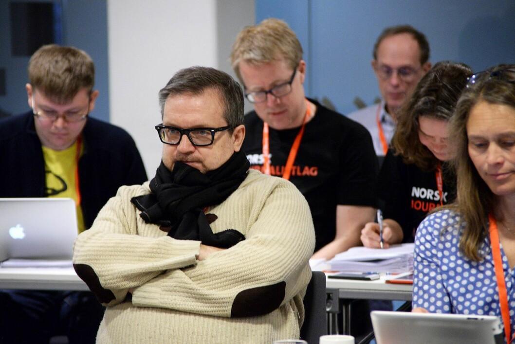 Landsstyremedlem Stein Sneve i Norsk Journalistlag. Foto: Erik Waatland