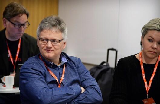 Landsstyrerepresentant Håkon Okkenhaug i NJ under landsstyremøtet i forkant av landsmøtet tirsdag.