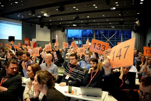 Landsmøtet til Norsk Journalistlag 21-23 mars på Fornebu utenfor Oslo.