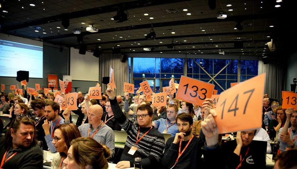 Landsmøtet til Norsk Journalistlag 21-23 mars 2017 på Fornebu utenfor Oslo.