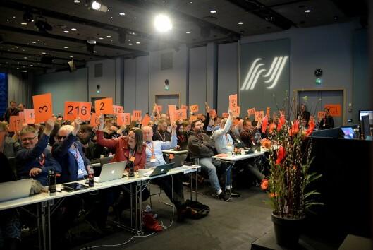 Landsmøtet i Norsk Journalistlag 21. mars 2017.