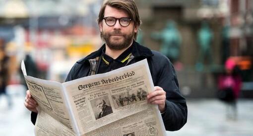 Torsdag fyller Bergensavisen 90 år. Det markeres med raspeballer, cava og opptrykk av den aller første avisa - i fullformat