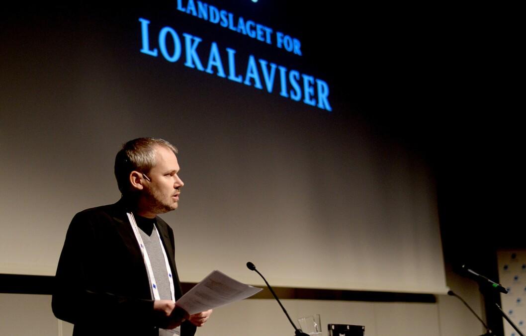 Roar Osmundsen, styreleder i Landslaget for lokalaviser og til daglig redaktør for Søgne og Songdalen budstikke.