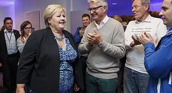 Statsminister Solberg glad Stang slettet terror-tweet om Dagens Næringsliv