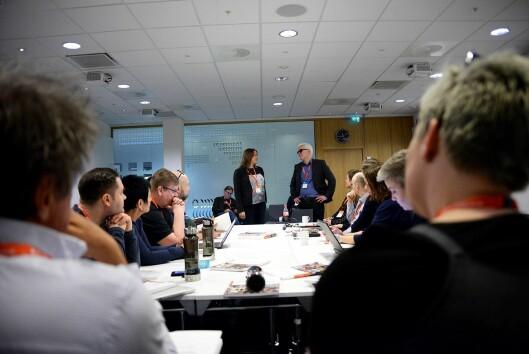 Her snakker Hege Iren Frantzen og Dag Idar Tryggestad til det ferske landsstyret sitt for første gang.