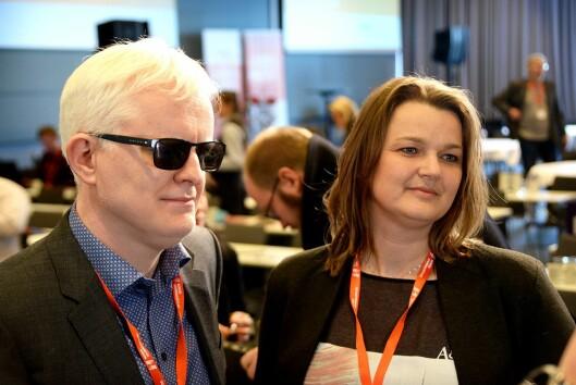 Nestleder Dag Idar Tryggestad og leder Hege Iren Frantzen i Norsk Journalistlag.
