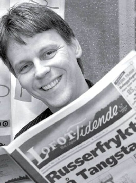 Kenneth Grav - som har startet lokalavis på Leknes to ganger.