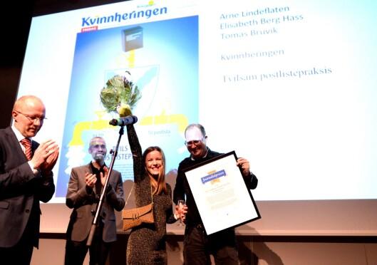 Journalistprisen til Kvinnheringen.