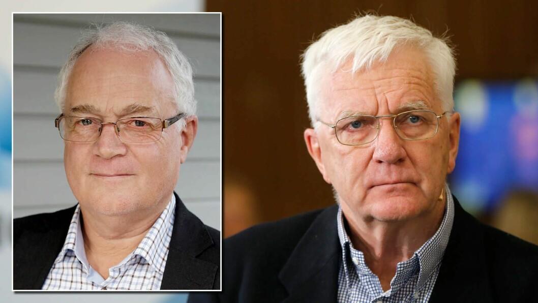 Atle Hagtun (til venstre) er redaktør i Norges Taxiforbund, og reagerer på behandlingen av Finansavisen og redaktør Trygve Hegnar.