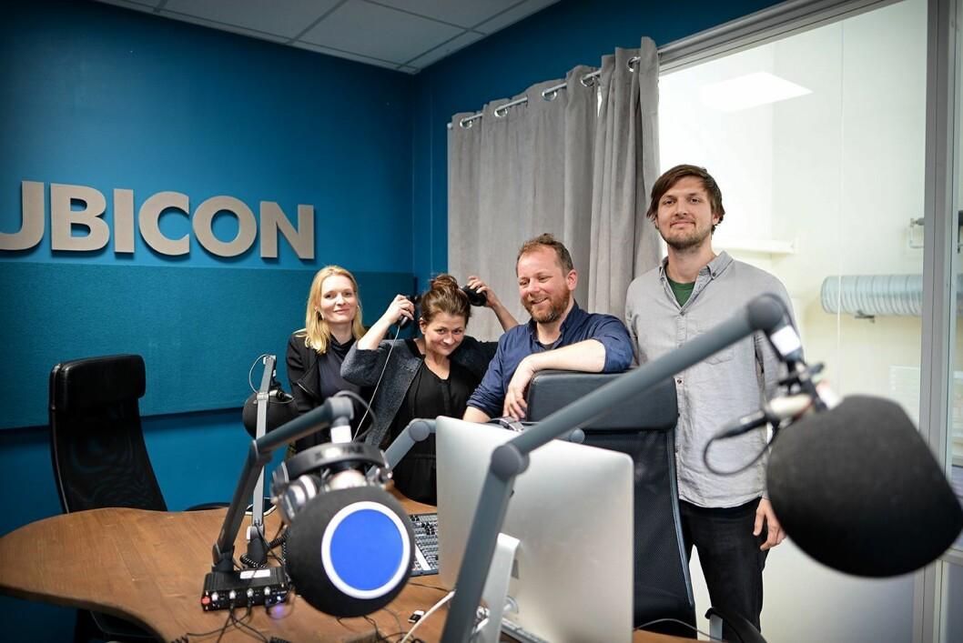 Uløst-redaksjonen fra venstre: Kristine Hellesland (VG), Cathinka Rondan (Rubicon), Tor-Erling Thømt Ruud (VG), Sindre Leganger.