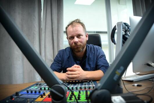 Programleder Tor-Erling Thømt Ruud i Uløst. Han er til daglig journalist og klubbleder i VG.