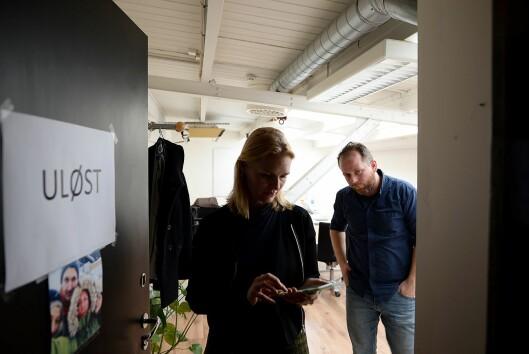 Uløst-redaksjonen ved Kristine Hellesland og Tor-Erling Thømt Ruud i VG.