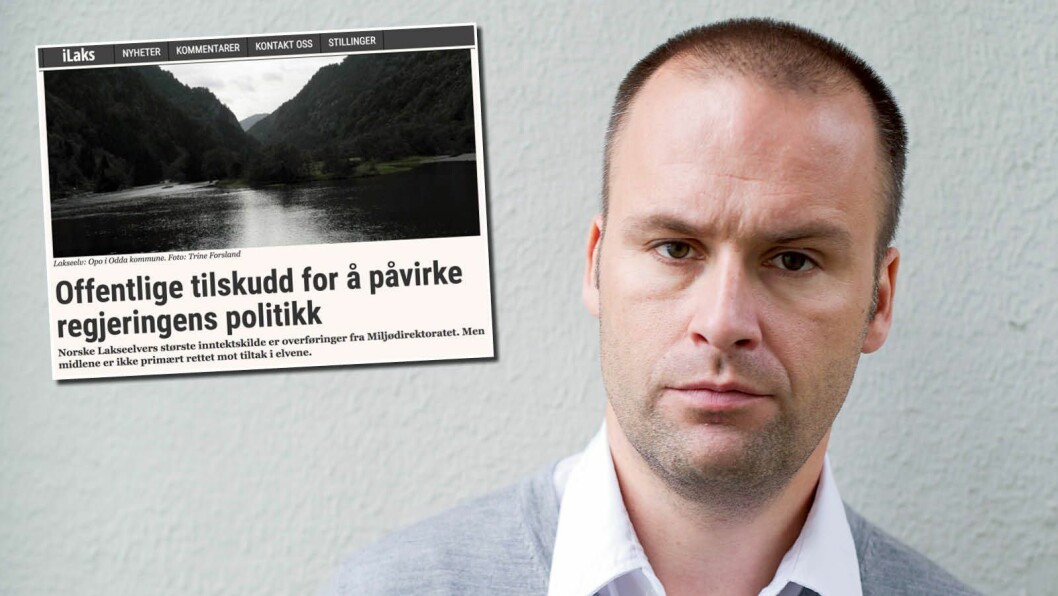Aslak Berge, redaktør for iLaks. Den innklagede artikkelen innfelt (faksimile).