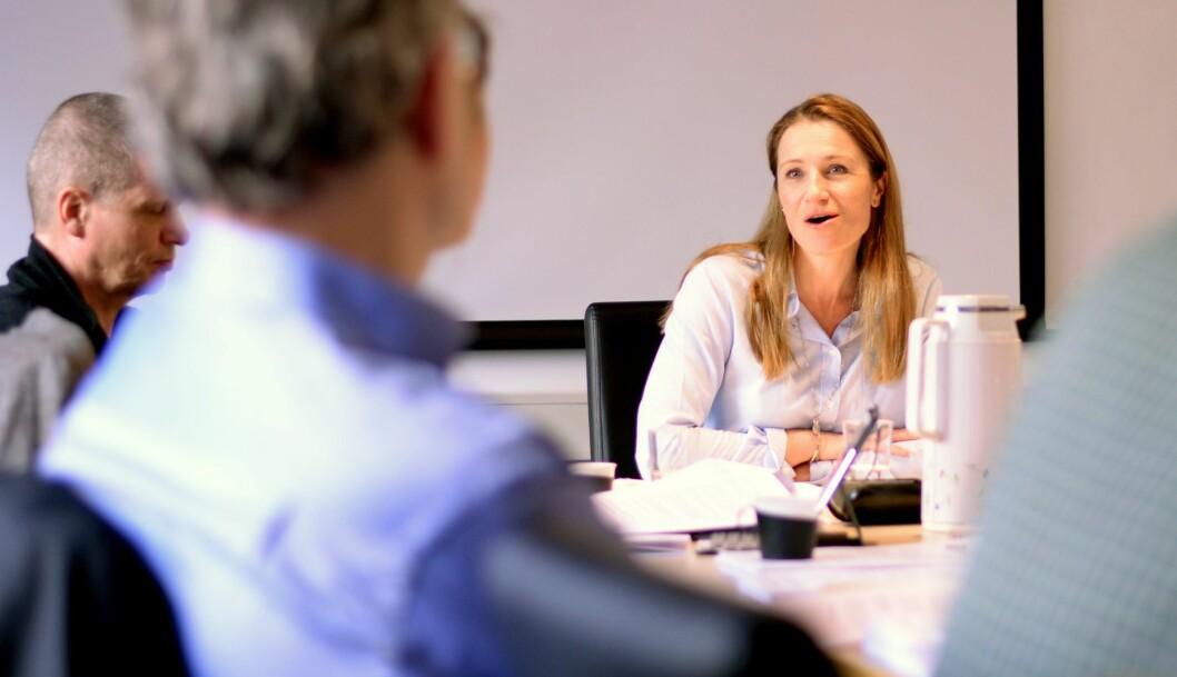 Liv Ekeberg, fungerende PFU-leder i tirsdagens møte.