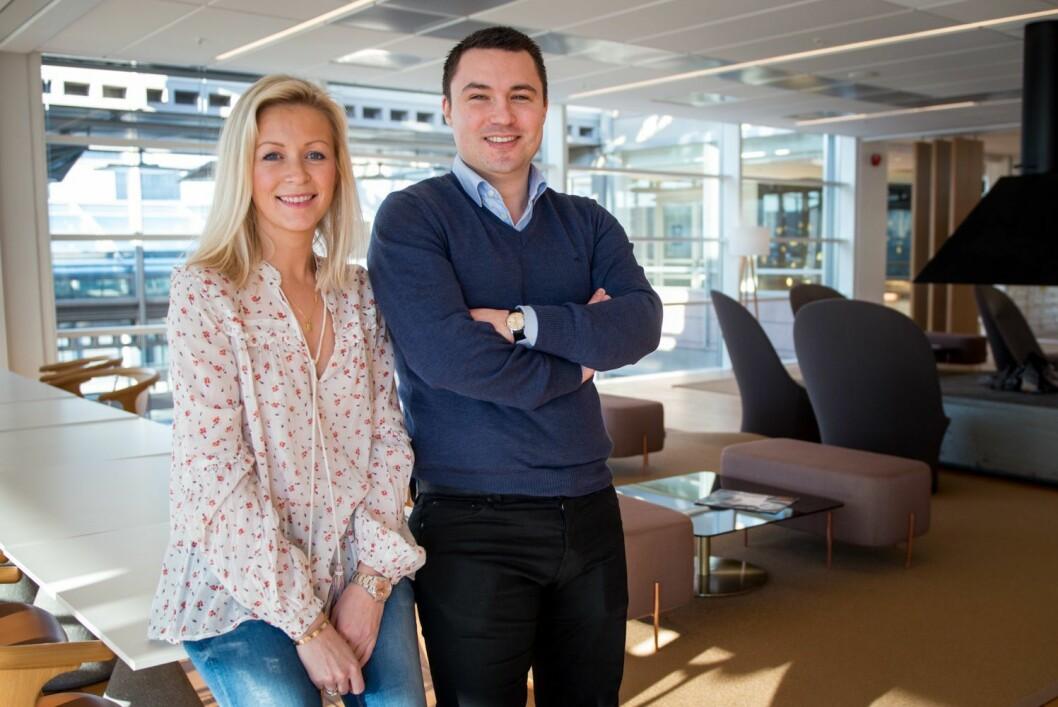 Ida Barth Thomassen og Anders Ruud, daglig leder og innholdssjef for Aftenposten Brand Studio.