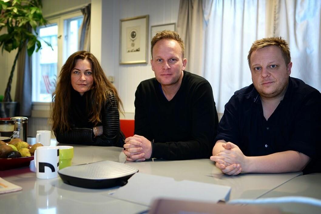 Tillitsvalgte: Annette Hobson, Andreas Hagen og Stian Presthus er NRK-tillitsvalgte på Marienlyst.