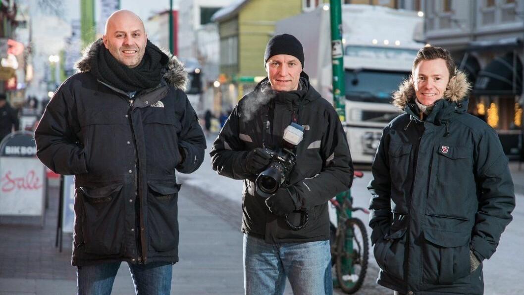 I fjor mistet disse tre jobben på VGs Tromsø-kontor. Fra venstre: Thor Harald Henriksen, Terje Mortensen og Eirik Linaker Berglund.