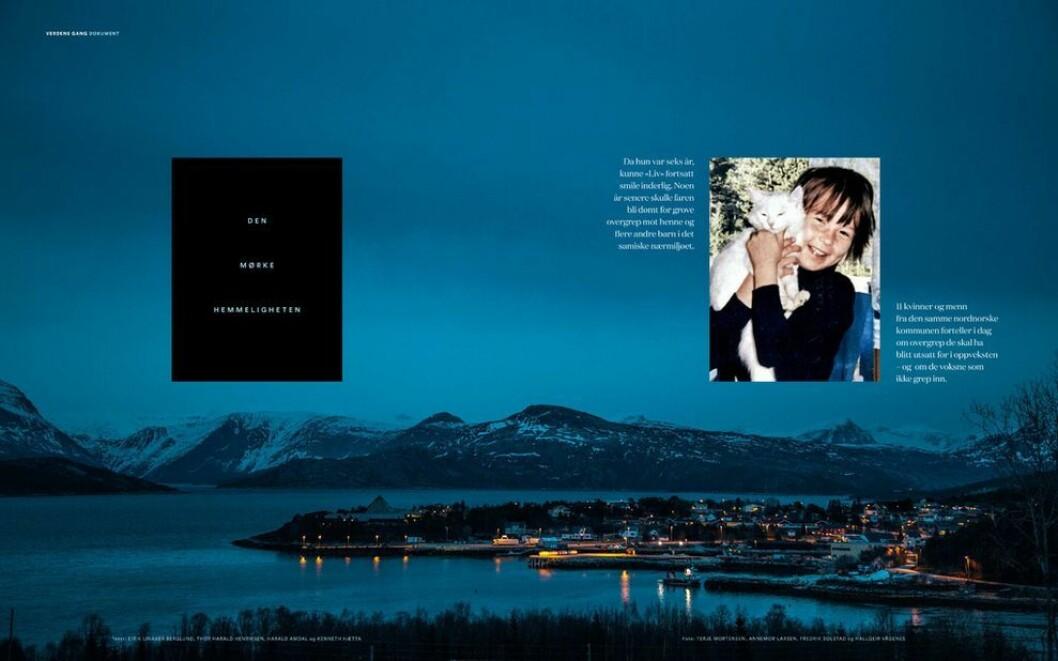 Faksimile fra hovedreportasjen i «Tysfjord-saken».