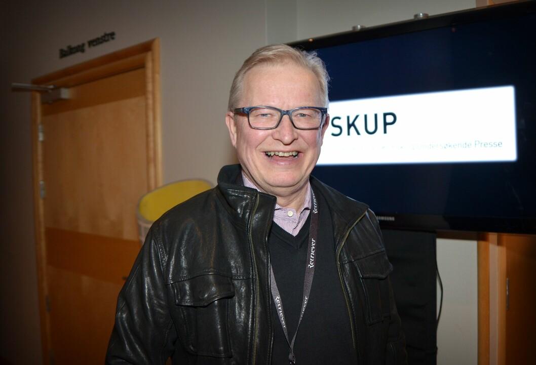 Juryleder Bernt Olufsen i SKUP under årets konferanse i 2017.