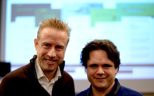 Kristoffer Egeberg og Jari Bakken - nå redaktør og utvikler for Faktisk.no.