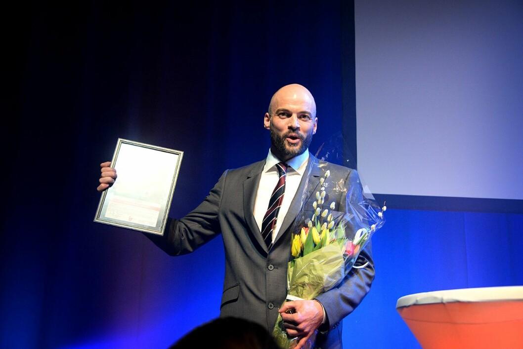 Journalist Anders Sømme Hammer vant årets International Reporter-pris under SKUP.